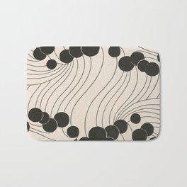 Art Nouveau Black Dots Bath Mat