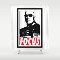 focus Shower Curtains featuring FOCUS by Main Event Merch
