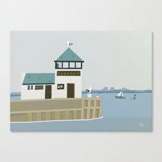 The Dock Beach Wall Art, Beach Art Nursery Decor, Nursery Wall Art for Boys Room Canvas Print