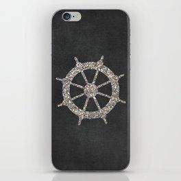 Nautical Silver Wheel iPhone Skin