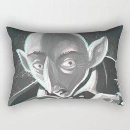 creepy spooky nosferatu Rectangular Pillow