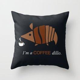 Armadillos Epidemy - Coffee'dillo Throw Pillow
