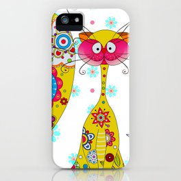 A Cat an the little Bee iPhone Case