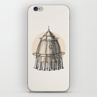 steam punk iPhone & iPod Skins featuring Steam punk rocket by grop