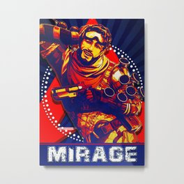 Mirage Apex Legend Metal Print