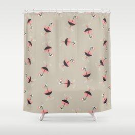 Flamingo&Umbrella Shower Curtain