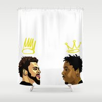 kendrick lamar Shower Curtains featuring 2 Kings. Kendrick Cole by MikeHanz