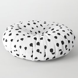 Dalmatian dots black Floor Pillow