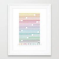 calendar Framed Art Prints featuring Calendar 2014 by neuprouns