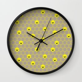 Happy Honeycomb Cells Wall Clock