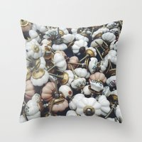 antique Throw Pillows featuring antique  by n o a h