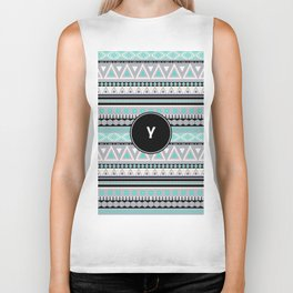 Monogram Tribal Pattern *Y* Biker Tank
