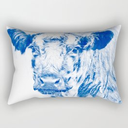 Ardnamuchan Coo - Blue Rectangular Pillow