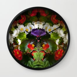 Flowers pattern and Reflections Wall Clock