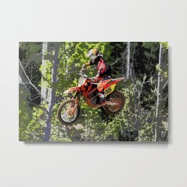 High Flying Racer - Motocross Champ Metal Print