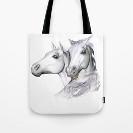 White Horses of the Camargue Tote Bag