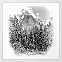 Wintry Portrait of Half Dome Art Print