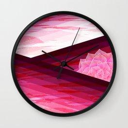 Serene Contemporary Flower Design Wall Clock