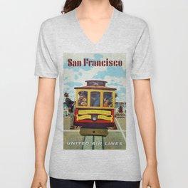 Vintage poster - San Francisco Unisex V-Neck