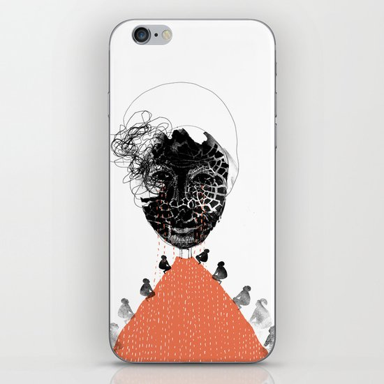 Moonrise mountain (mother earth cries) iPhone & iPod Skin