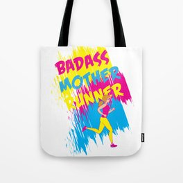 Badass Mother Runner Tote Bag