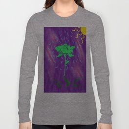 funny green rose Long Sleeve T-shirt