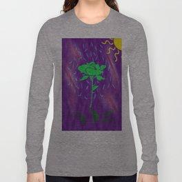 funny green rose Long Sleeve T-shirt