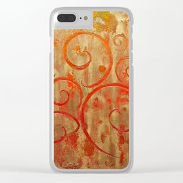 Pompeii Red (encaustic painting) Clear iPhone Case