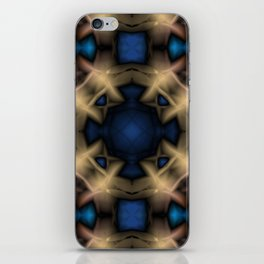 Abstract pattern. Black blue yellow background. iPhone Skin