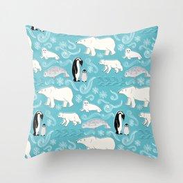 Artic Winter Wonderland Throw Pillow