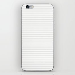 Creamy Tofu White Mattress Ticking Narrow Striped Pattern - Fall Fashion 2018 iPhone Skin