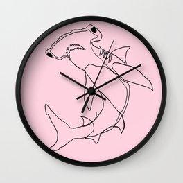 Hammerhead Shark (pink) Wall Clock