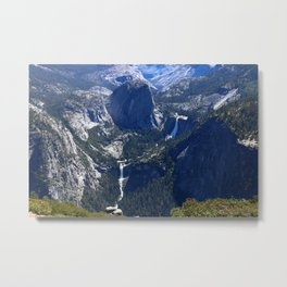 Vernal Falls And Nevada Falls Metal Print