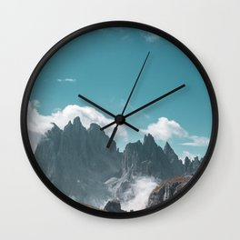 Dolomites Poster Portrait, Italy, Printable Photography, Nature, Landscape, Print, Wall Art Wall Clock