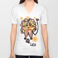 leo V-neck T-shirts featuring leo by sladja