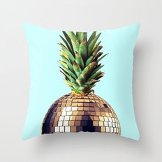 Ananas party (pineapple) blue version Throw Pillow