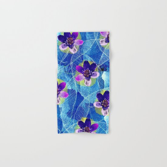 Purple flowers Hand & Bath Towel