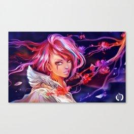 Sakura girl Canvas Print