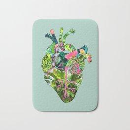 Botanical Heart Mint Bath Mat