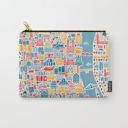 Cologne City Map Poster Carry-All Pouch