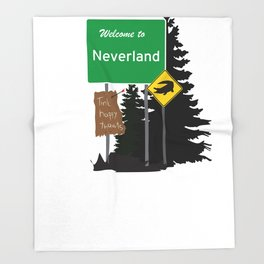 Neverland signs Throw Blanket
