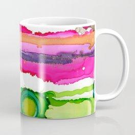 #025 - Abstract Pink and Green Coffee Mug