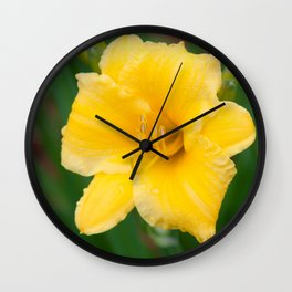 Yellow Daylily by Teresa Thompson Wall Clock