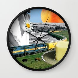 Peach Cobbler II Wall Clock