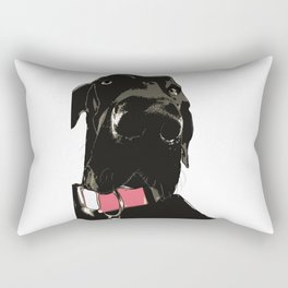 Black Great Dane Dog Rectangular Pillow
