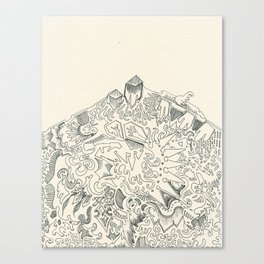 Psychedelic Bunny Mountain Canvas Print