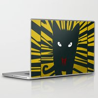 evil Laptop & iPad Skins featuring Evil Cat by Antonio Ortega