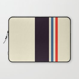 Classic Minimal Racing Car Retro Stripes - Furaribi Laptop Sleeve