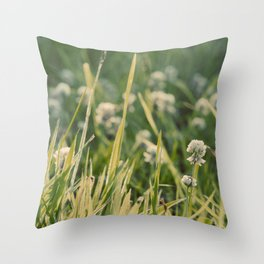 Dusk in the Field Throw Pillow