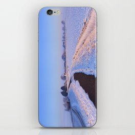 II - Lake and dike at sunrise in winter in The Netherlands iPhone Skin